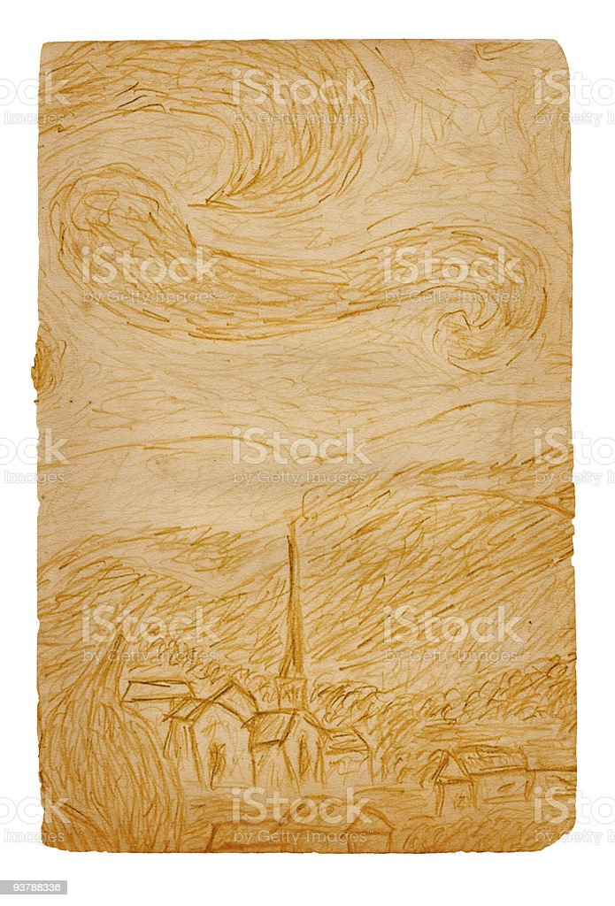 Starry Night Paper XXL royalty-free stock photo