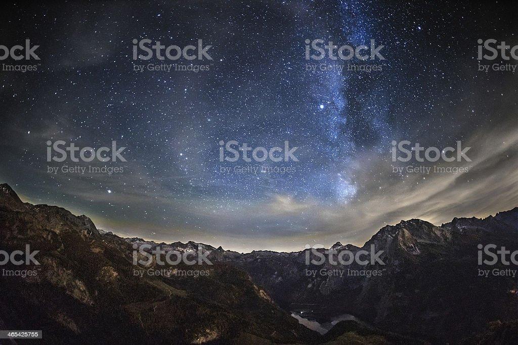 Starry night stock photo