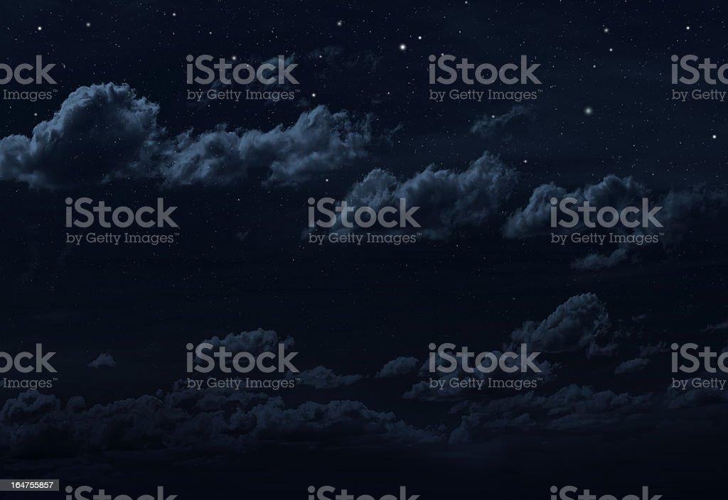 Starry night Sky royalty-free stock photo