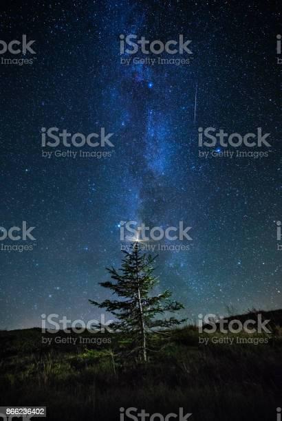 Photo of Starry nigth sky with Milky Way