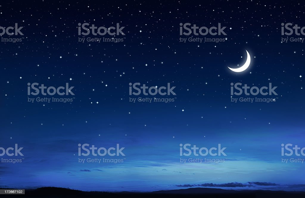 Starry Peaceful Night stock photo