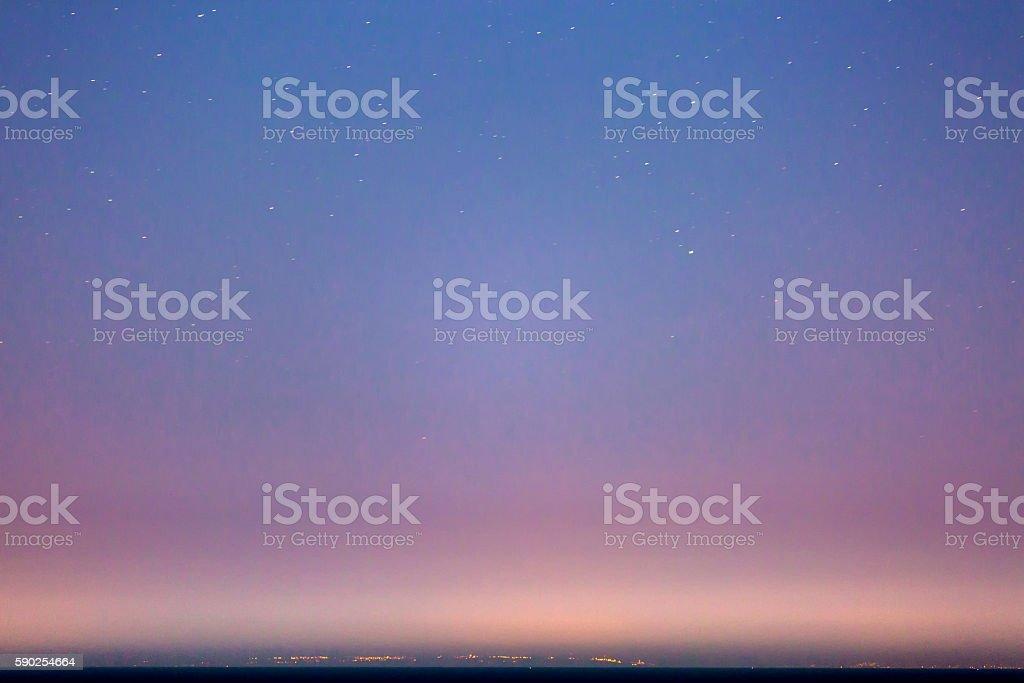 Starry Sky and the Sicily Coastline - Royaltyfri Astronomi Bildbanksbilder