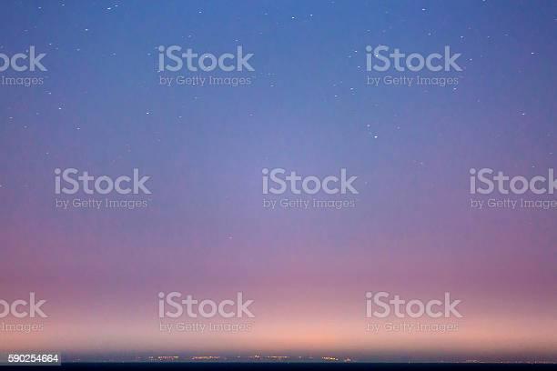 Starry Sky And The Sicily Coastline-foton och fler bilder på Astronomi