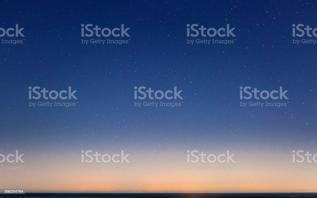 Starry Sky and the Sicily Coastline - Royaltyfri Astronomi Bildbanksbilder