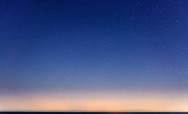 starry sky and the sicily coastline - nightsky bildbanksfoton och bilder