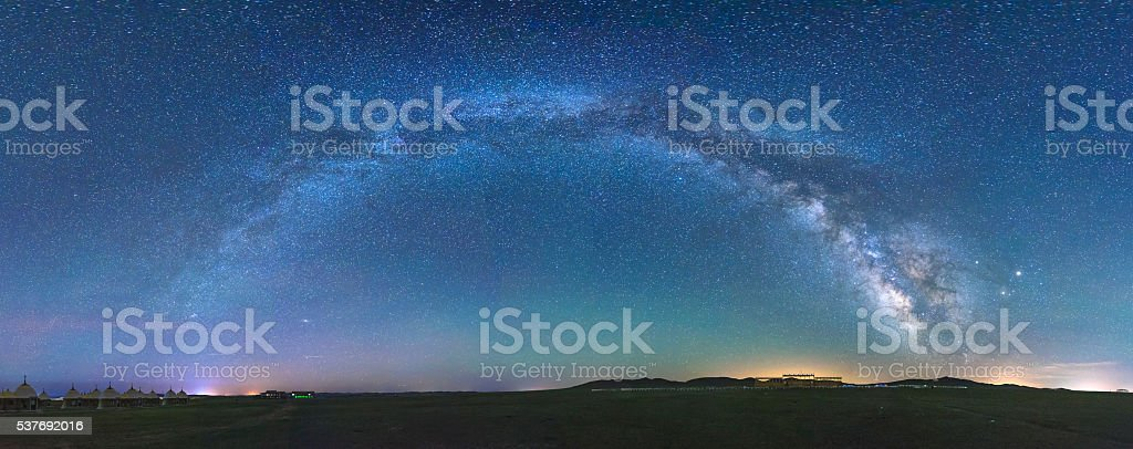 starry sky background stock photo
