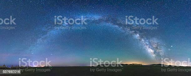 Photo of starry sky background