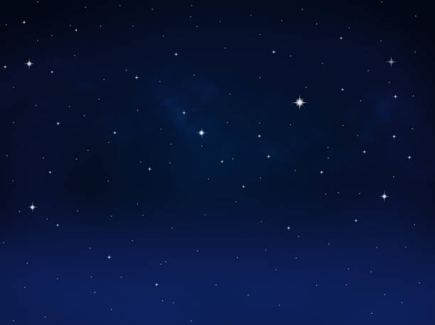 Starry sky Stars and Milky Way in a sky north star stock pictures, royalty-free photos & images