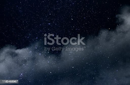 532378051 istock photo Starry Sky with Stars and Clouds 1185468967