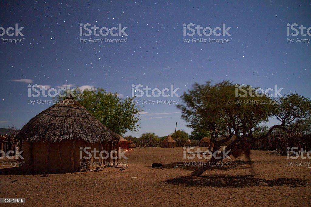Stars Above The Himba Village stock photo