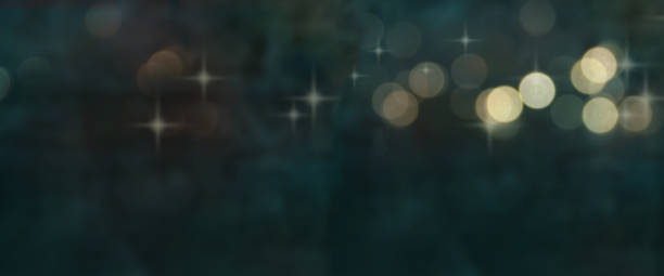 Stars and bokeh lights texture stock photo