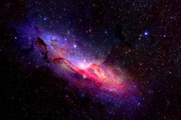 별과 은하 공간 하늘 밤 배경 - 은하수 뉴스 사진 이미지