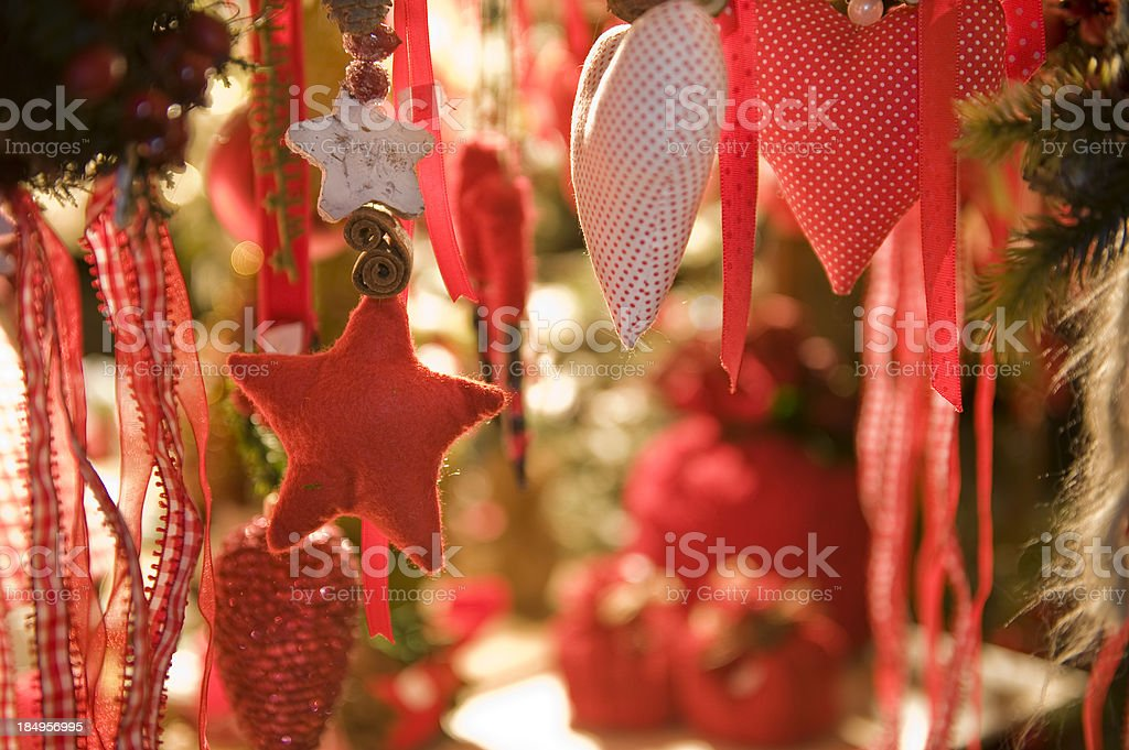 Stars and hearts at Christmas time stock photo