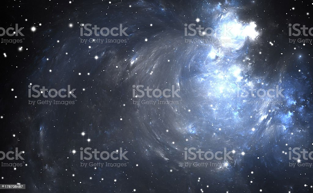 Stars and planets within Nebulae royalty-free stock photo