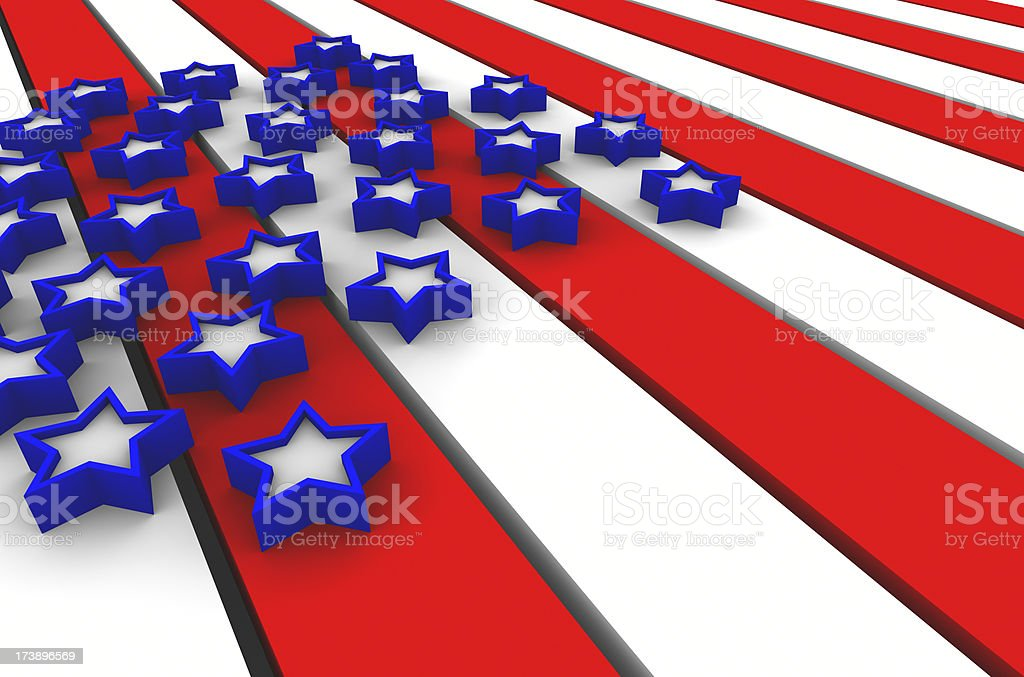Stars and Stripes Background 2 stock photo