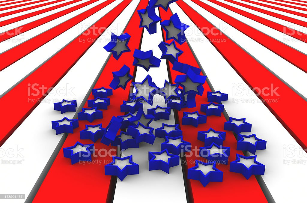 Stars and Stripes Background 3 stock photo