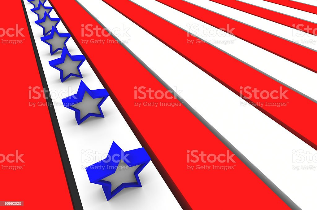 Stars and Stripes Background 5 stock photo