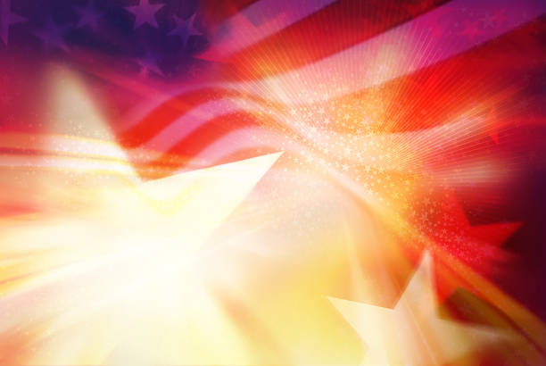 stars and stripes background - patriotism stock pictures, royalty-free photos & images