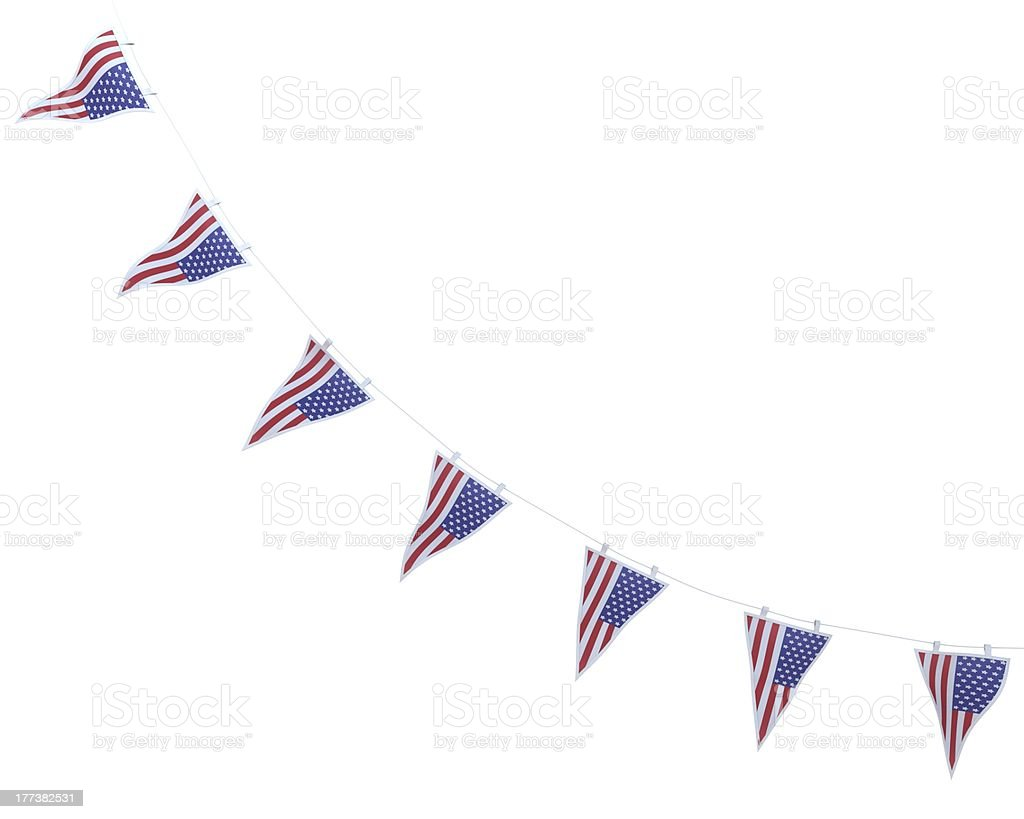 stars and stripes bunting pennants stock photo