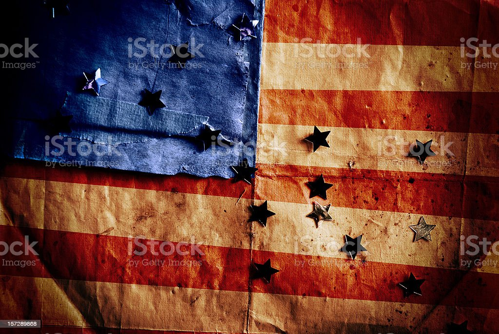 Stars and stripes - Custom made American flag royalty-free stock photo