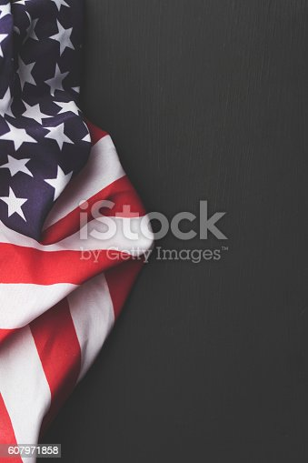 istock USA stars and stripes flag on a dark chalkboard background 607971858