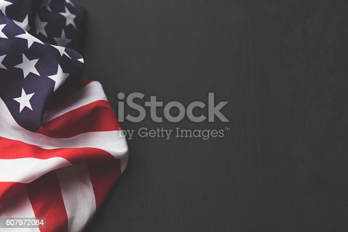 istock USA stars and stripes flag on a dark chalkboard background 607972084