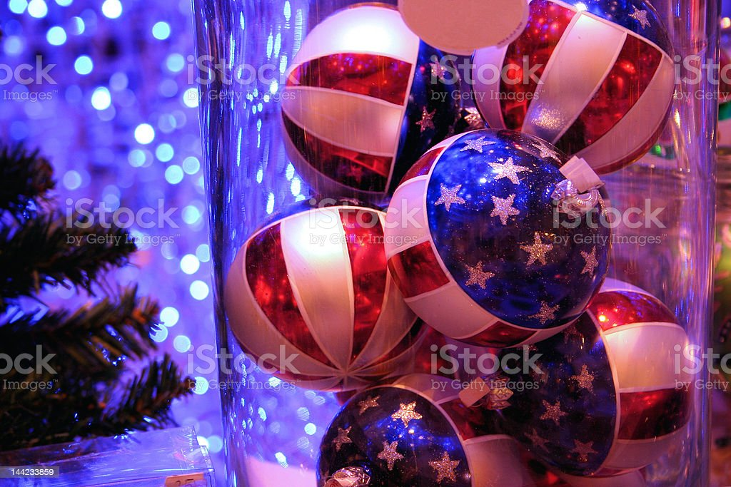 Stars and Stripes for Christmas stock photo