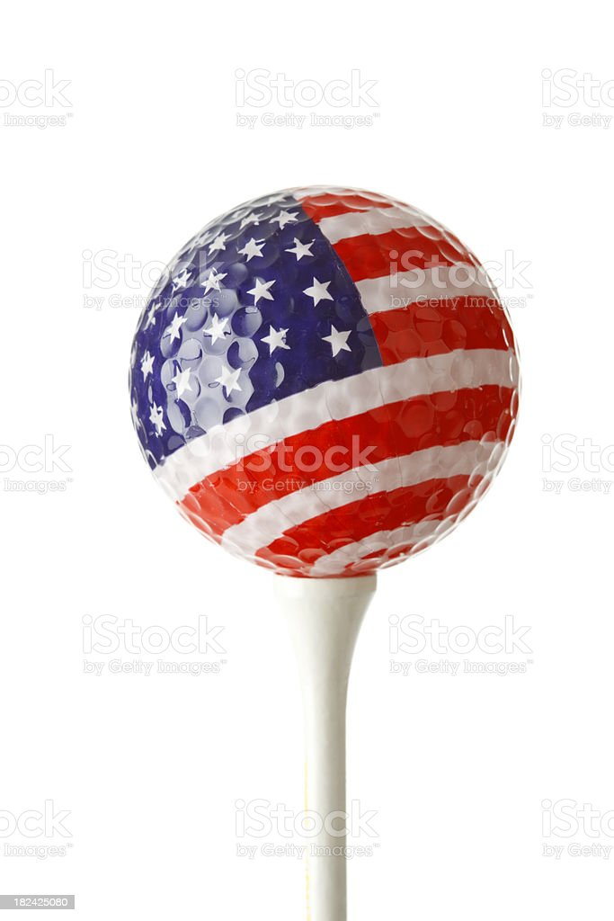 Stars And Stripes golfball stock photo