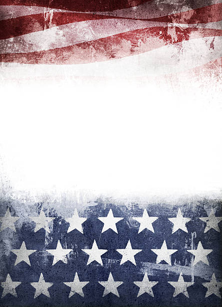 stars and stripes grunge stock photo