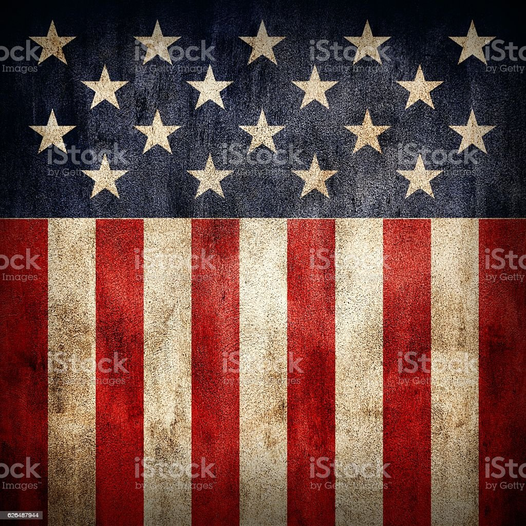 Stars and stripes grungy vector art illustration