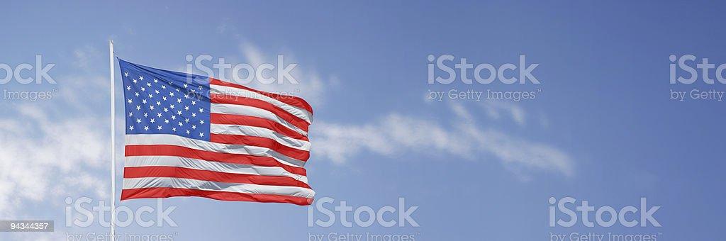 Stars and stripes horizontal royalty-free stock photo