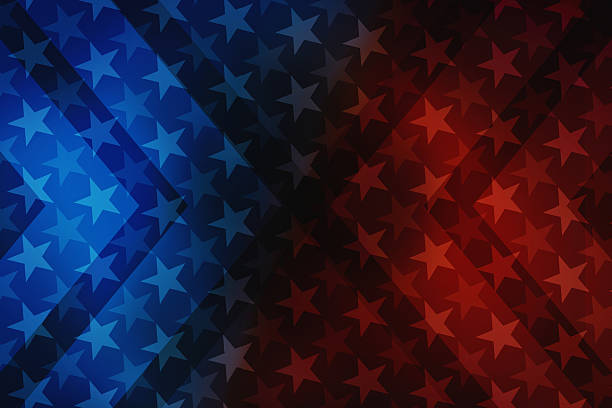 USA stars and stripes illustration background USA stars and stripes illustration background with decorative elements that refer to the American flag. Colorful image usable for USA politics and government, celebration events, american contents, national landmarks and wallpaper. XXXL size concept image with copy space available for text. american culture stock pictures, royalty-free photos & images