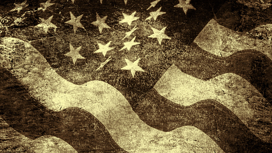 182764873 istock photo Stars and stripes in grunge style 576749234