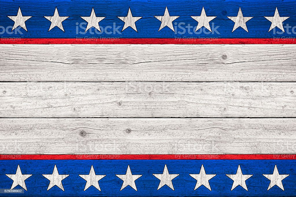Stars and Stripes Old Glory Patriotic Wood Background (SEAMLESS) stock photo