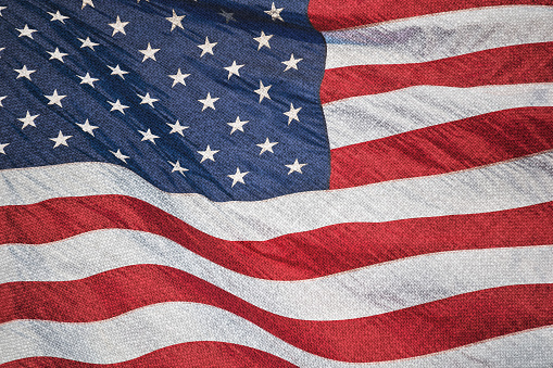 182764873 istock photo Stars and stripes on textile 500750860