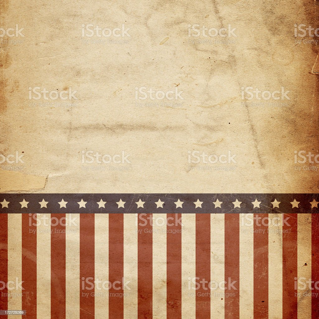Stars and Stripes Paper XXXL royalty-free stock photo