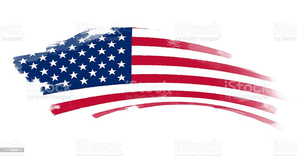 Stars and stripes. stock photo