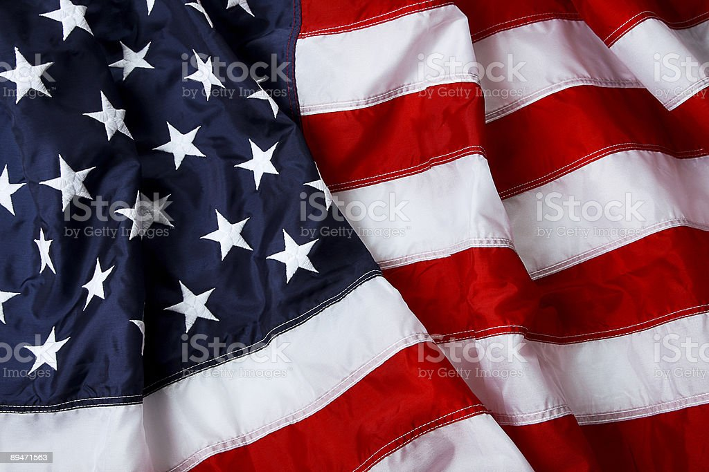 Stars and stripes stock photo