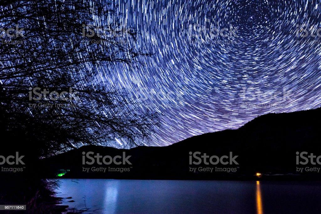 Stars Astrophotography Landscape stock photo