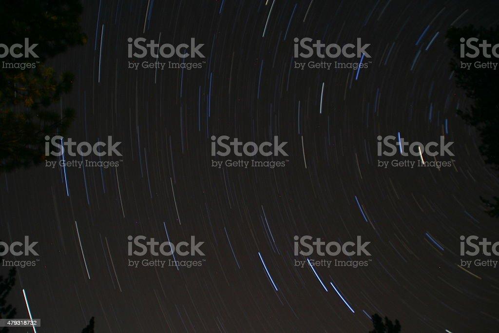 Stars Blur over Sequoia National Park stock photo