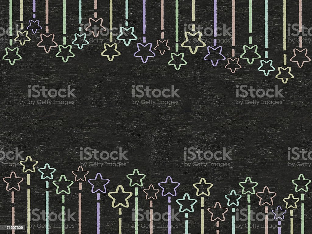 stars colors line written on blackboard background, high resolution royalty-free stock photo