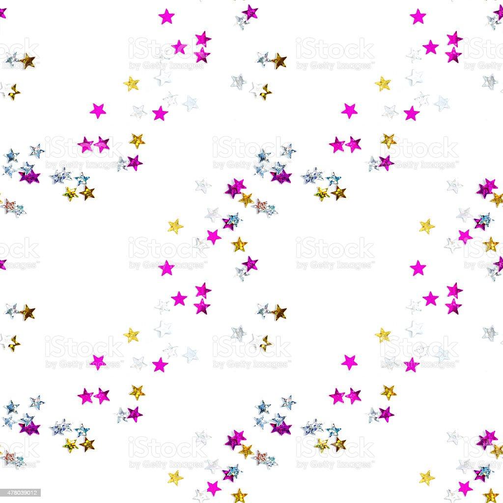stars confetti stock photo