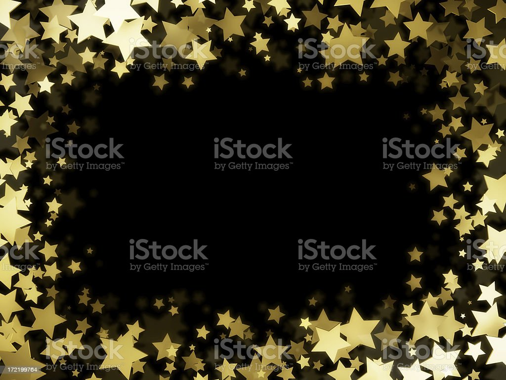 Stars Frame stock photo