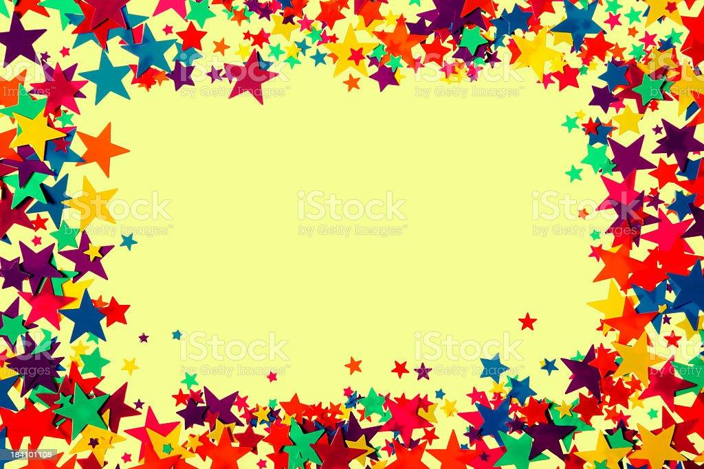Stars frame royalty-free stock photo