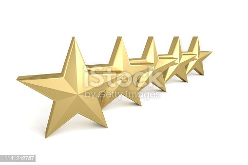 istock 5 stars gold golden yellow quality success best 1141242787