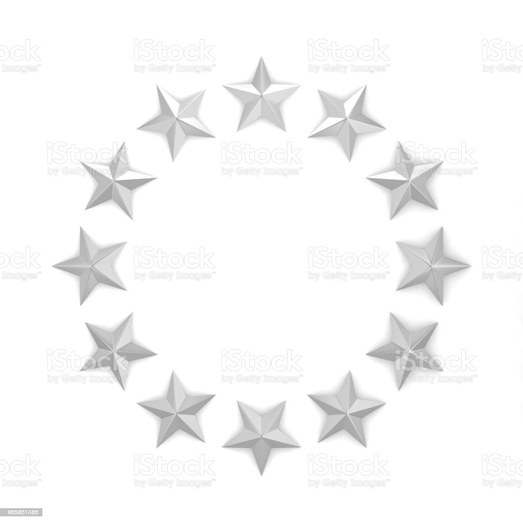 Stars in a circle shape - Royalty-free Art Stock Photo