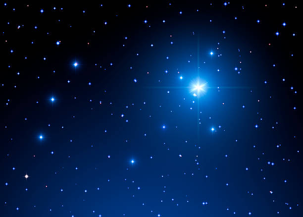 Stars in the Milky Way Milky Way stars. Digital illustration. north star stock pictures, royalty-free photos & images