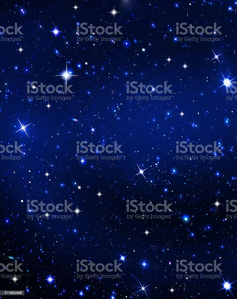 stars in the night royalty-free stock photo
