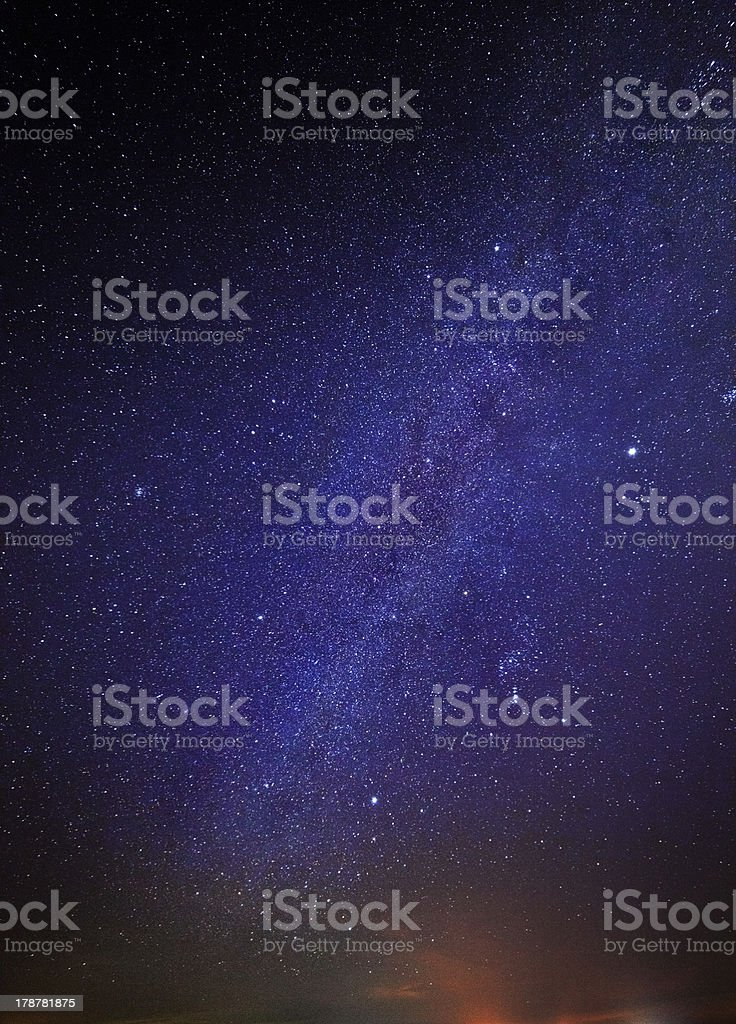 stars in the night sky royalty-free stock photo