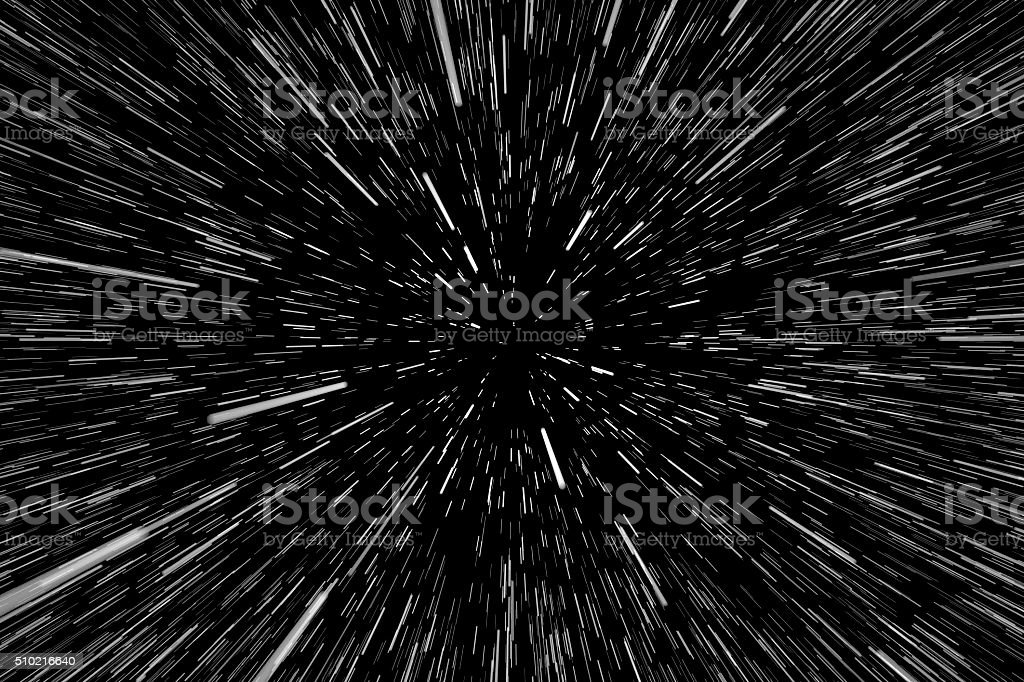 Stars, Light Motion in Space stock photo